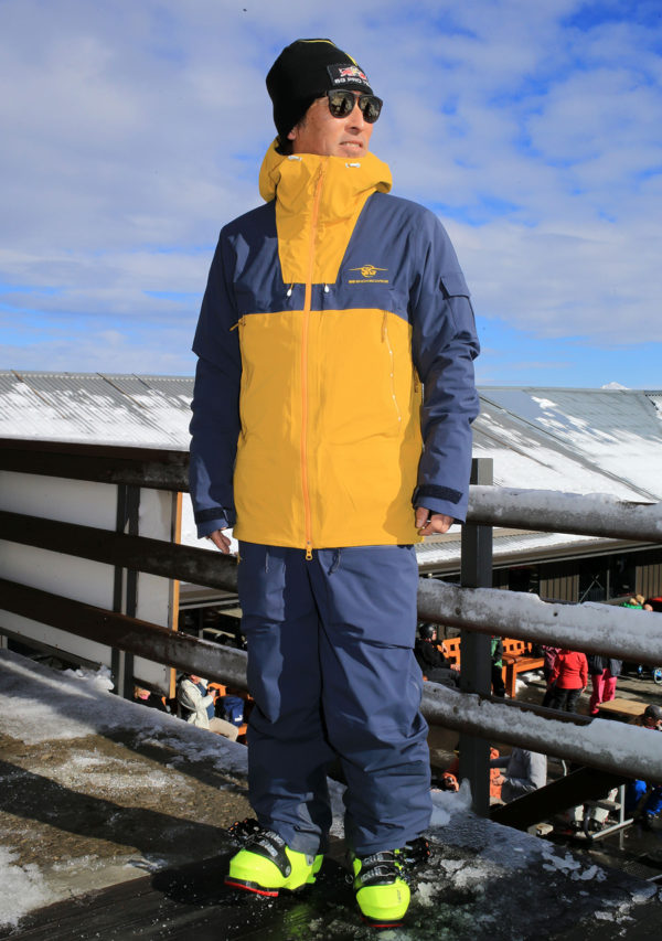 SG Snowboards Webshop - 3 Layer jacket mustard blue pic by Isamu Kubo1