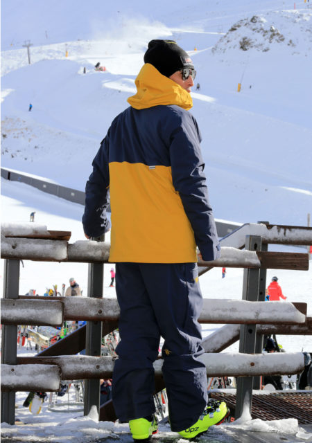 SG Snowboards Webshop - 3 Layer Snowboard Jacket yellow/blue pic by Isamu Kubo1