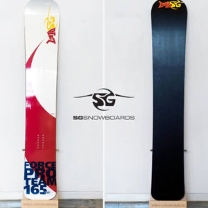 SG SNOWBOARDS Force 17-18 SBX front back view