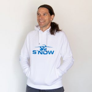 SG SNOWBOARDS Sigi Grabner Webshop Hoodie White pic by Stefan Martin Lusser